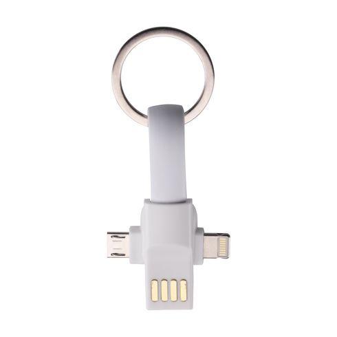 Connection 3-in-1 avaimenperä latausjohdolla