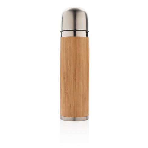 Bambusta valmistettu matkatermospullo