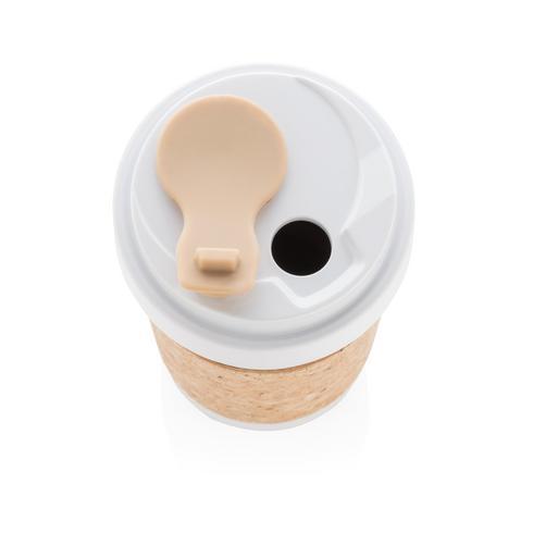 ECO PLA 400 ml:n muki, jossa korkkivyöte