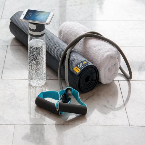 Fit-vesipullo ja puhelinpidike