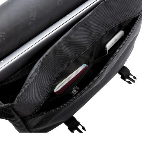 """Swiss Peak RFID 15"""" laptoplähettilaukku - PVC-vapaa"""