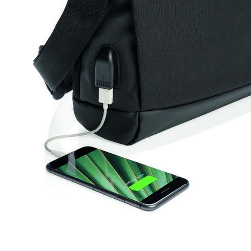 """Madrid – 15,6"""" USB-laptoplaukku - RFID - PVC vapaa"""