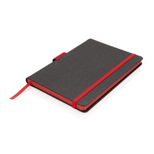 Ylellinen A5-muistikirja kynäpidikkeellä