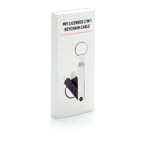 MFi-lisensoitu 2in1 avaimenperäkaapeli